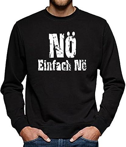 TLM Nö einfach Nö Sweatshirt Pullover Herren S Schwarz (Einfache Katzen-kostüm Für Arbeit)