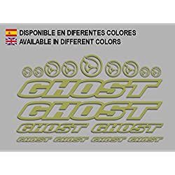 PEGATINAS GHOST F188 VINILO ADESIVI DECAL AUFKLEBER ???? MTB STICKERS BIKE (ORO)