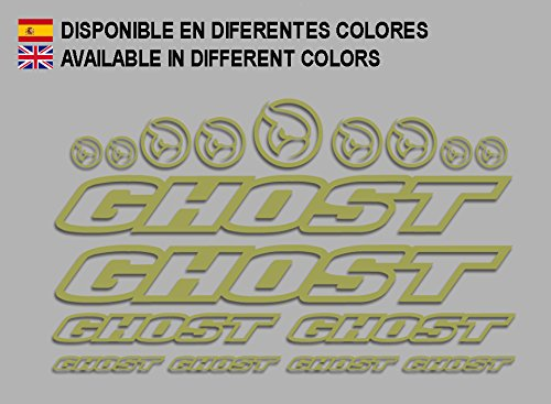 Ecoshirt R6-VLUB-ULYI Aufkleber Ghost F188 Vinyl Adesivi Decal Aufkleberbögen ungemŸ MTB Stickers Bike, Gold