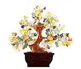 Multi Color Crysta Piedra Gem dinero tree-amethyst cuarzo rosa cornalina citrino claro cuarzo Feng Shui colorido Crytal Gem dinero árbol