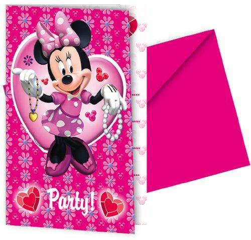 Procos - Minnie Mouse 6 Einladungskarten mit Umschlägen