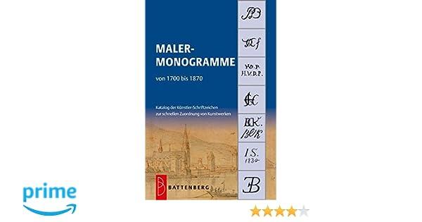 Malermonogramme Signaturen Schriftzüge auf Bildern Monogramme Bilder Buch
