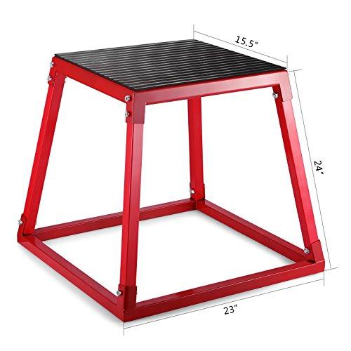 Ambesten Plyo-Box Plyometrisches 12 Zoll 18 Zoll 24 Zoll Sprung-Hocker Bocksprung Stepper Trainingsset für Turn und Cross Übungen Plyometrische Sprungboxen für Sprungtraining (24 Zoll)