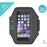 Tantra Mobi-Ease Arm Band Adjustable Sports Running, Jogging, Gym, Yoga, Aerobics, Cycling Anti-slip Ultra Light Weight Armband Mobile Holder (Large Size for Screen size upto 5.5 inches like iphone 6 plus, 6S plus & Samsung galaxy Edge S6, S7)