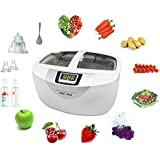 LUCKSTAR Vegetable Fruit Sterilizer - Ultrasonic Cleaner Washer 2.5L Home Use Cleaner Sterilizer For Vegetables / Fruits / Glasses / Watch / Tableware And More