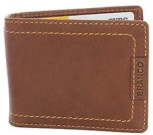 7925e20bae9ee Branco Vintage Geldscheinklammer ohne Münzfach Echt Leder Herren  Portemonnaie