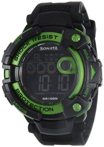 51ZSCaMhGBL - Sonata 77010PP03J Ocean Series II Digital Mens watch