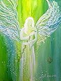 silwi-art***** Engelbild Schutzengelbild Engelposter Erzengel Raphael der Heiler - Praxisdeko 30 x 40 cm