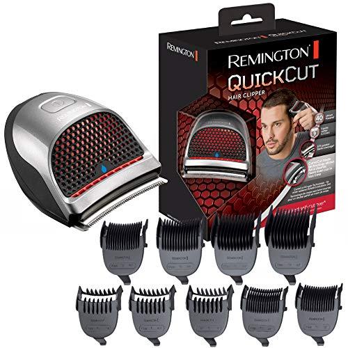 Remington HC4250 QuickCut - Cortapelos, tecnología de cuchilla Curvecut, nueve peines guía 1,5 - 15 mm, 40 minutos de autonomía