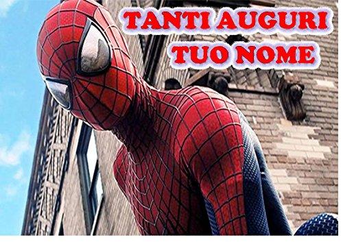 Spiderman Home Coming Herren Spinne Waffel in Ostia für Kuchen personalisierbar-Kit N ° 13cdc- (1Waffel in Ostia Abmessungen Folio A4210× 297mm)
