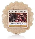 YANKEE CANDLE, Disco in Cera da sciogliere alla fragranza di Ebano e Quercia, Color Panna