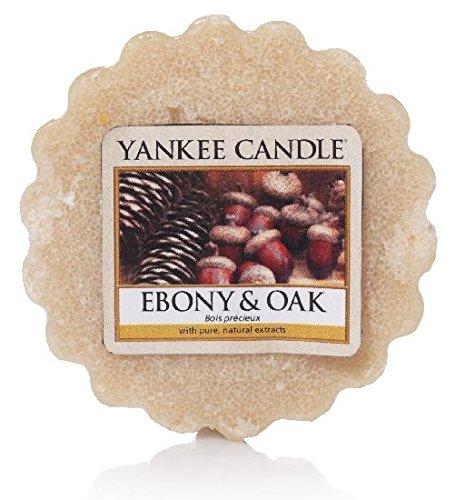 Yankee Candle Ebenholz und Eiche Duftwachstörtchen zu Schmelzen, wachs, Braun, 5.7 x 5.7 x 2.0 cm - Hohle Kerze