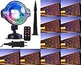Lunartec aussen-Projektor: LED-Kugellampe mit Schneefall-Effekt und Timer, weiß + RGB, IP44 (Outdoor Projektor)