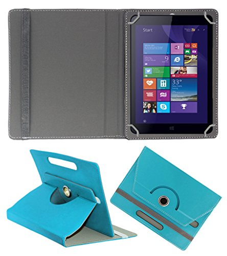 ACM ROTATING 360° LEATHER FLIP CASE FOR IBALL SLIDE WQ32 TABLET STAND COVER HOLDER GREENISH BLUE  available at amazon for Rs.159