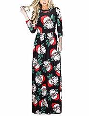 Idea Regalo - Ruiyige Vestito Maxi da Dress Natale di Natale di Babbo Natale