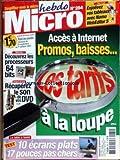 HEBDO MICRO [No 284] du 25/09/2003 - NAMO WEBEDITOR 5 - ACCES A INTERNET - PROMOS - BAISSES - TARIFS - LES PROCESSEURS 64 BITS - LE SON DE VOS DVD - ECRANS PLATS.