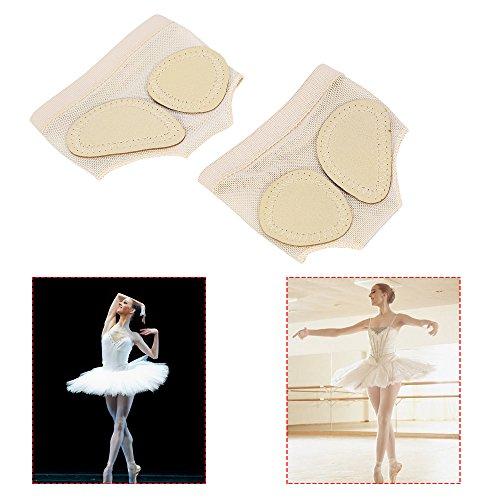 Dioche Footundeez, Damen Ballett Bauchtanz Fuß Thongs Tanz Pfote Halbsohle Fitness Pads (M) Fitness-thong