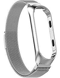 c4660b30c8b Crazy-Store Stainless Steel Watch Band Strap w Frame for Xiaomi MI Band 3