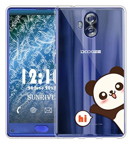 Sunrive Für DOOGEE Mix Lite Hülle Silikon, Transparent Handyhülle Schutzhülle Etui Case Backcover für DOOGEE Mix Lite 5,2 Zoll(TPU Panda 2)+Gratis Universal Eingabestift