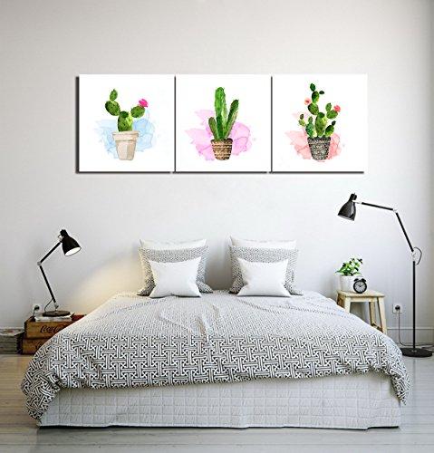 LB Planta,Maceta,Cactus,Verde Blanco_Arte Pared Pintura