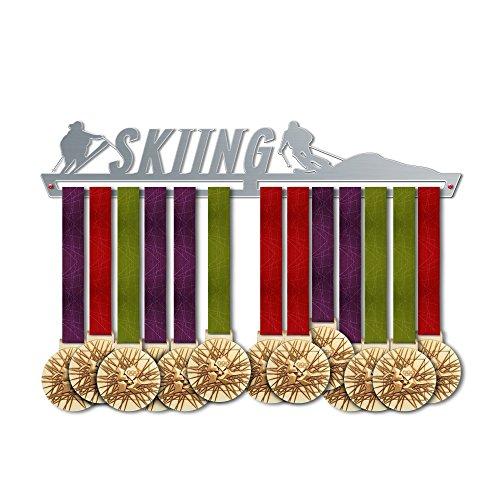 VICTORY HANGERS Medaillen Aufhängen SKI Medal Hanger * Medal Display | Medaillenhalter | Elegant Sport Medaillen Anzeige * Super Gualität Edelstahl | Medaille Halterung Wand-Dekor | Für Die Champions ! - Aufhänger Race-medaille