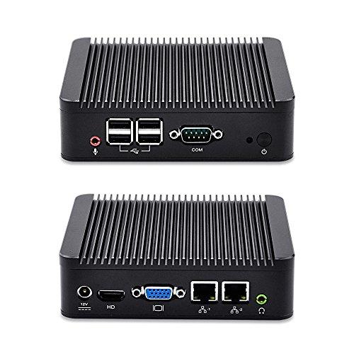 qotom de q100s 2LAN Mini pcwith 4GB RAM, 64GB SSD, Wifi, BT4.0, Intel Celeron 1037U Processor, Dual Core 1.8GHz, mini PC pfsense Linux Windows