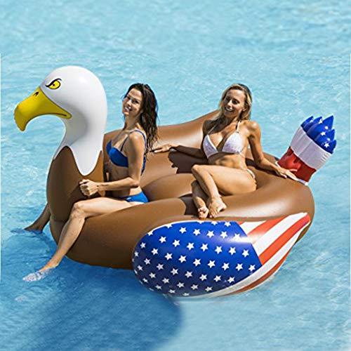 LCYCN Planschbecken,Riesiger Aufblasbarer Poolfloss, Spaß-Strand-Floaties-Schwimmen-Partei Spielt Pool-Insel-Aufenthaltsraum Für Erwachsene U. Kinder, 200 × 180 × 120 cm - Stauraum-insel