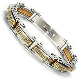 Best Modern Elements Cufflinks For Men - Urban-Jewelry Industrial Greek Pattern 316L Stainless Steel Link Review