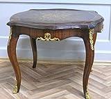 LouisXV Barock Tisch Antik Stil Beistelltisch MoTa0033-1 antik Stil Massivholz. Replizierte Antiquitäten Buche Antikmessing.