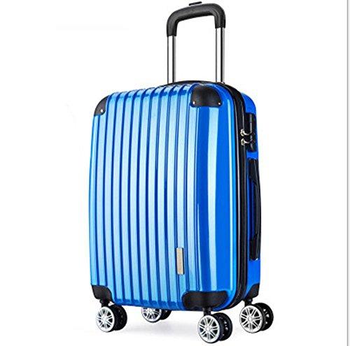 """Xiuxiandianju Particolarmente scelta libertà rigida leggera filatura Set di bagagli di rotolamento (20"""" 22"""" 24 """"26""""28"""") treasure blue"""