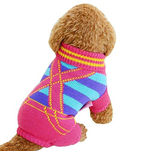 ZREAL Pet Dog Cat Clothes Suéter de punto de invierno Ropa abrigadora para Chihuahua Perros grandes pequeños