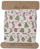 SiAura Material 1 Rolle Baumwollband Weihnachten Muster,