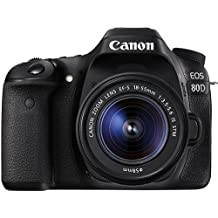Canon EOS 80D 24.2MP Digital SLR Camera (Black) + EF-S 18-55mm STM Lens Kit + Memory card