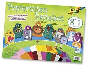 Folia 952  - Set creativo para hacer Bolsas de papel (21 piezas) Importado de Alemania