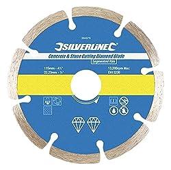 Silverline 633624 Stein- und Beton-Diamanttrennscheibe 125 x 22,23 mm, segmentiert
