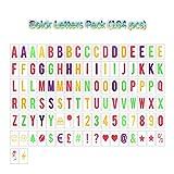104 bunte Buchstaben & Zeichen Verwenden Sie für A4 große Box aufhängen oder stellen-Leuchtkasten Kino Stil LED