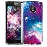 kwmobile Motorola Moto G5 Hülle - Handyhülle für Motorola Moto G5 - Handy Case in Mehrfarbig Pink Schwarz