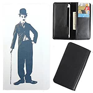 DooDa - For iBall Andi 4.5 O'Buddy PU Leather Designer Fashionable Fancy Case Cover Pouch With Card & Cash Slots & Smooth Inner Velvet