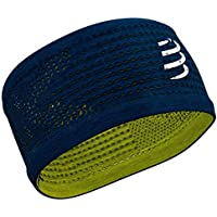 COMPRESSPORT Headband On/Off Cinta, Unisex-Adult, Azul/Lime, Talla Unica