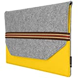 Tarkan Felt Sleeve Carry Case for All 13 13.3 Inch Laptops, MacBook Air Pro, Slim & Protective Cover (Yellow & Grey)