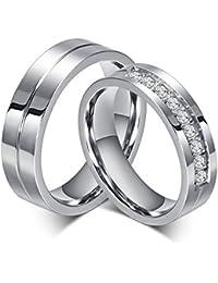 BOBIJOO Jewelry - Alliance Bague Anneau Doré à l'Or Fin Acier Inoxydable Mariage Fiançaille Couple Au choix
