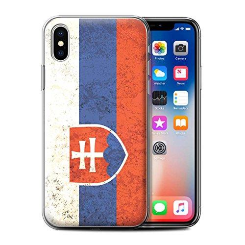 Stuff4® Gel TPU Hülle/Case für Apple iPhone XS/Slowakei/Slowakisch Muster/Flagge Kollektion