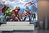 AG Design ftdxxl 2215Avenger Marvel, Papier Papier Peint Photo Chambre d'enfant de Papier 360x 255cm-4Pièces, Multicolore, 0,1x 360x 255cm