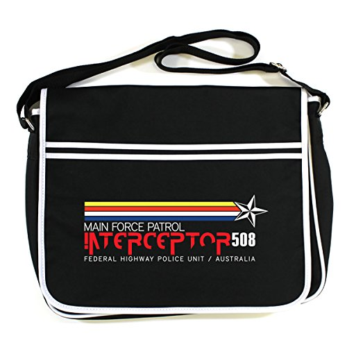 Arcane Store MAD MAX: INTERCEPTOR 508 Retro Messenger Bag (One Size Fits All/Black)