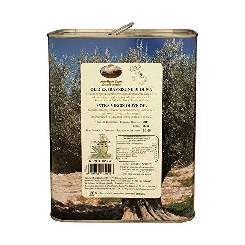 Olio extravergine di oliva italiano leccino abruzzo 2000 ml tanica glac002