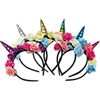 THEE 6pcs Tocado de Unicorn Diadema de Pelo Disfraz Decorativo