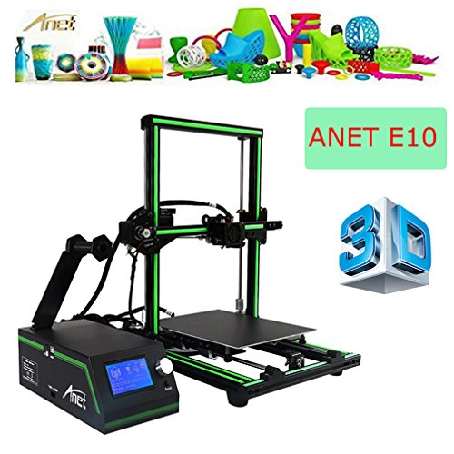 ANET E10 3d Stampante printer DIY upgradest High Precision RepRap Prusa con LCD12864 lavora con PLA ABS Filamenti per DIY