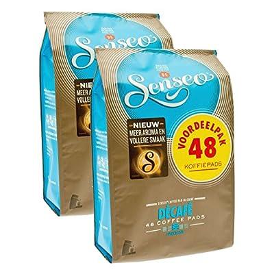 Senseo Décafé/Decaffeinated, New Design, Pack of 2, 2 x 48 Coffee Pods