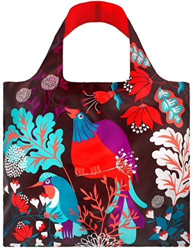 LOQI FO.BI Shopping Bag Forest Bird Design