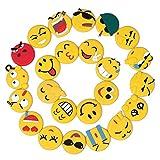 Nevera Imán, Imanes de nevera Emoji Adhesivo Decorativo Nevera Imán Etiqueta Cocina Accesorios para Pizarra Blanca Oficina Suministros Escuela Locker Casa Divertida Regalo 24 juegos